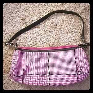 Lauren Ralph Lauren pink plaid purse (relisted)